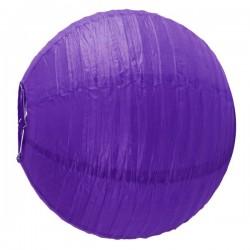 Grande Boule chinoise lampion violet 45 cm FETE NOEL MARIAGE ANNIVERSAIRE RETRAITE neuve