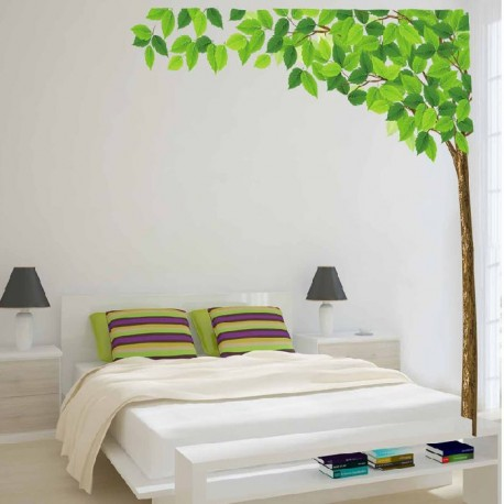 Decoration Murale Stickers Adhesif Arbre Deco D Angle 130 X 160 Cm