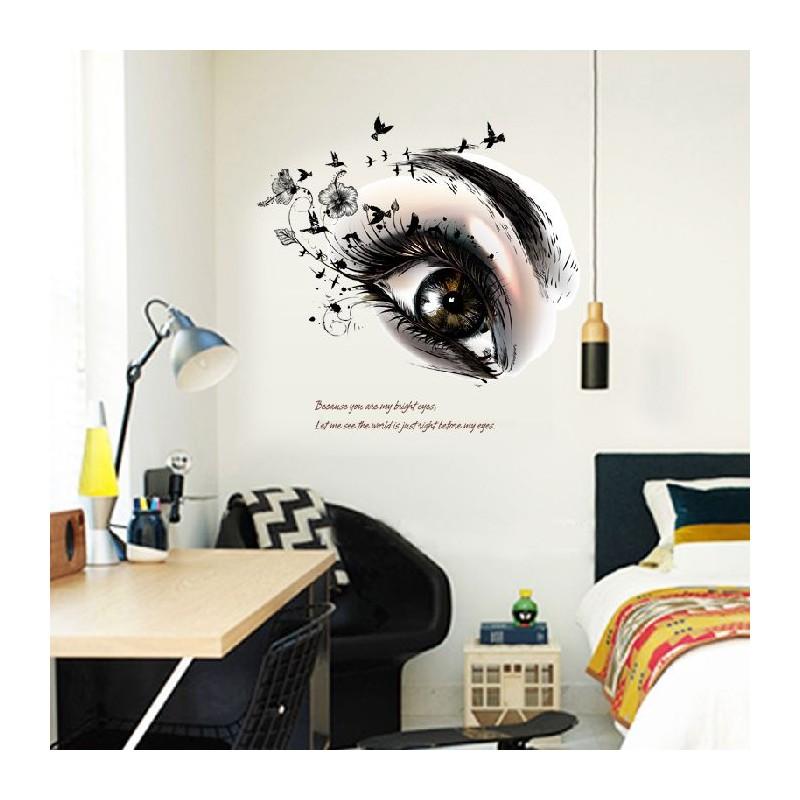 D coration murale stickers adh sif chambre salon il design 53 x 60 cm - Deco chambre annee 60 ...