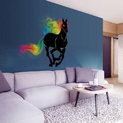 Décoration murale stickers adhésif cheval art déco 80 x 90 cm neuf