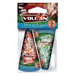 Feux d'artifices nouvel an noël anniversaire sachet de 2 volcans couleurs extérieur neuf