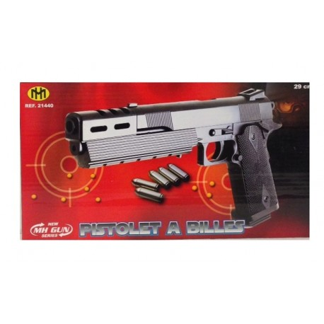 Jouet jeux pistolet à billes canon long 29 cm gun cadeau noël anniversaire neuf