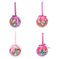 Lot de 4 Boules de Noël Minnie 7,5cm licence officielle Disney décoration pour sapin Noël neuve