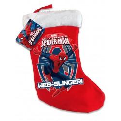 DÉCORATION NOEL Chaussette Spiderman LICENCE officielle Marvel DÉCORATION CHEMINEE SAPIN BONBONS NOEL neuve