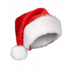 Bonnet Noël a pompons molletons ACCESSOIRE DEGUISEMENT NOEL NEUF