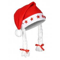 Bonnet de Mère-Noël a pompons lumineux adulte ACCESSOIRE DEGUISEMENT NOEL NEUF