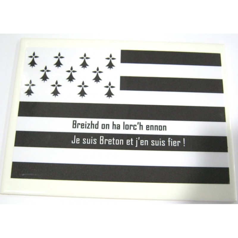 Humour Proverbe Breton 08 Reproduction Drapeau Sur Faience Idee