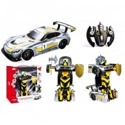 Voiture R/C collection Mercedes Amg GT3 Transformateurs avec Batterie Rechargeable 1/14 ème idée cadeau noel neuf