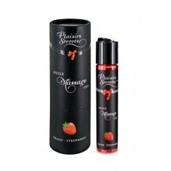 HUILE DE MASSAGE SENSUELLE COMESTIBLE fraise ADULTE RELAXATION PLAISIR IDEE CADEAU ST VALENTIN NOEL NEUF