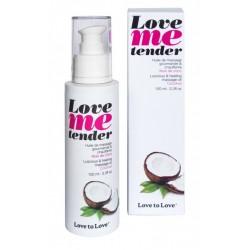Huile massage Love Me Tender Noix de Coco chauffante et comestible ADULTE RELAXATION PLAISIR IDEE CADEAU ST VALENTIN NOEL NEUF