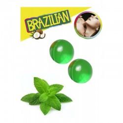LOT DE 2 Boules Bresiliennes aromatisées Menthe ADULTE SEXY HOT PLAISIR IDEE CADEAU ST VALENTIN NOEL NEUF