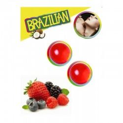 LOT DE 2 Boules Bresiliennes aromatisées Fruits des bois ADULTE SEXY HOT PLAISIR IDEE CADEAU ST VALENTIN NOEL NEUF