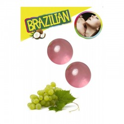 LOT DE 2 Boules Bresiliennes aromatisées Raisin ADULTE SEXY HOT PLAISIR IDEE CADEAU ST VALENTIN NOEL NEUF