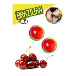 LOT DE 2 Boules Bresiliennes aromatisées cerise ADULTE SEXY HOT PLAISIR IDEE CADEAU ST VALENTIN NOEL NEUF