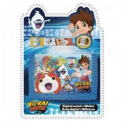 Set portefeuille + montre digitale Yo-Kai Watch idée cadeau anniversaire noel neuf