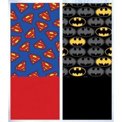 Lot de 2 Caches Cou Batman Superman MODE ENFANT HIVER LICENCE OFFICIELLE NEUF