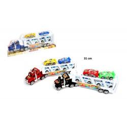 Camion + 4 voitures JEU JOUET ENFANT NEUF CADEAU