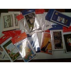 GROS LOT REVENDEUR PALETTE 100 lot de 1 , 2 et 5 mignonnettes cartes voeux bon année + enveloppes neuf