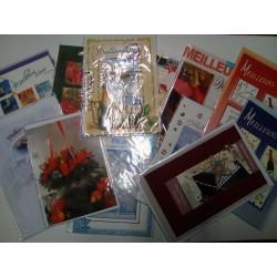 GROS LOT REVENDEUR PALETTE 100 cartes de voeux bonne année + enveloppes neuf