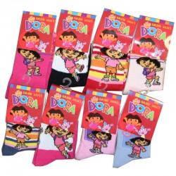 Lot de 4 Paires de chaussettes Dora Enfant fille taille 23/26 couleurs assorties neuve idée cadeau
