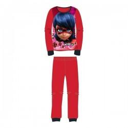 Pyjama polaire 2 pièces LadyBug Miraculous du 4 au 12 ans fille ROUGE ENFANT VETEMENT NEUF