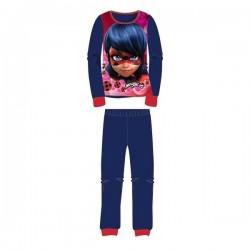 Pyjama polaire 2 pièces LadyBug Miraculous du 4 au 12 ans fille BLEU ENFANT VETEMENT NEUF