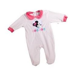 Pyjama Dors Bien en velours pour bébé Minnie Disney 3 AU 24 MOIS ROSE CLAIR FILLE VETEMENT LICENCE OFFICIELLE NEUF