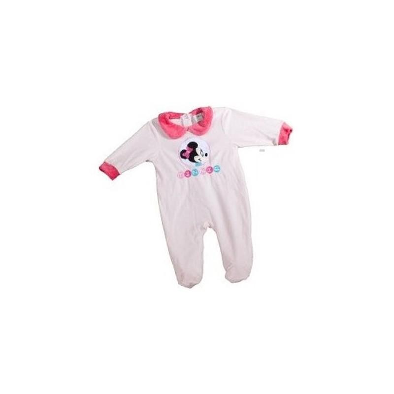 b89970375d911 Pyjama Dors Bien en velours pour bébé Minnie Disney 3 AU 24 MOIS ROSE CLAIR  FILLE. Loading zoom