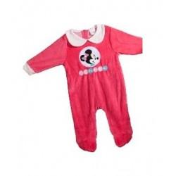 Pyjama Dors Bien en velours pour bébé Minnie Disney 3 AU 24 MOIS ROSE FUSCHIA ENFANT FILLE VETEMENT NEUF
