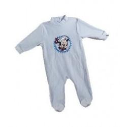 Pyjama Dors Bien en velours pour bébé Mickey Disney 3 AU 24 MOIS BLEU CIEL ENFANT GARCON VETEMENT NEUF