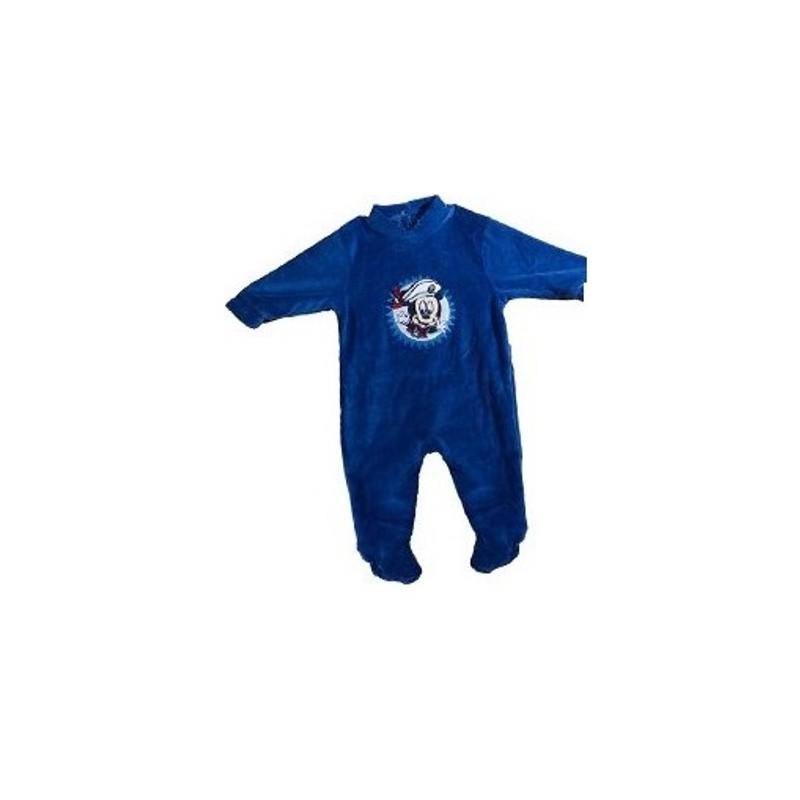 586d7b5f9c5dc Pyjama Dors Bien en velours pour bébé Mickey Disney 3 AU 24 MOIS BLEU  MARINE ENFANT. Loading zoom