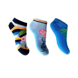 Lot de 3 Paires de chaussettes socquettes Enfant Peppa Pig taille 23/26 couleurs assorties neuve idée cadeau