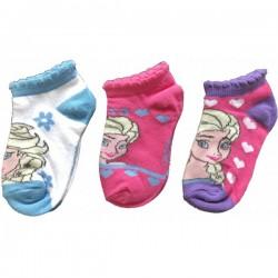 Lot de 3 Paires de socquettes chaussettes fille La Reine des Neiges Frozen taille 23/26-27/30-31/34 licence officielle neuve