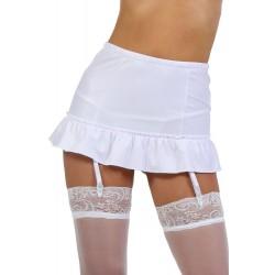 Ensemble sexy femme Jupe blanche lacée avec jarretelle S a XL neuve idée cadeau st valentin anniversaire noel