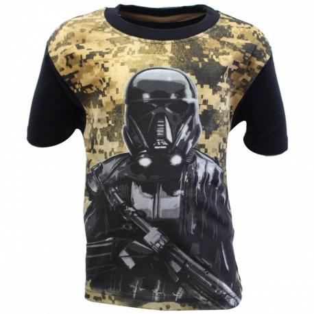 T-shirt manches courtes Star Wars Disney vert du 6 au 12 ans marron vetement 909bbf1fcba