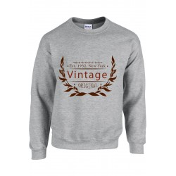 SWEATSHIRT GILDAN UNISEXE - VINTAGE vêtement pull Taille S à XXL neuf