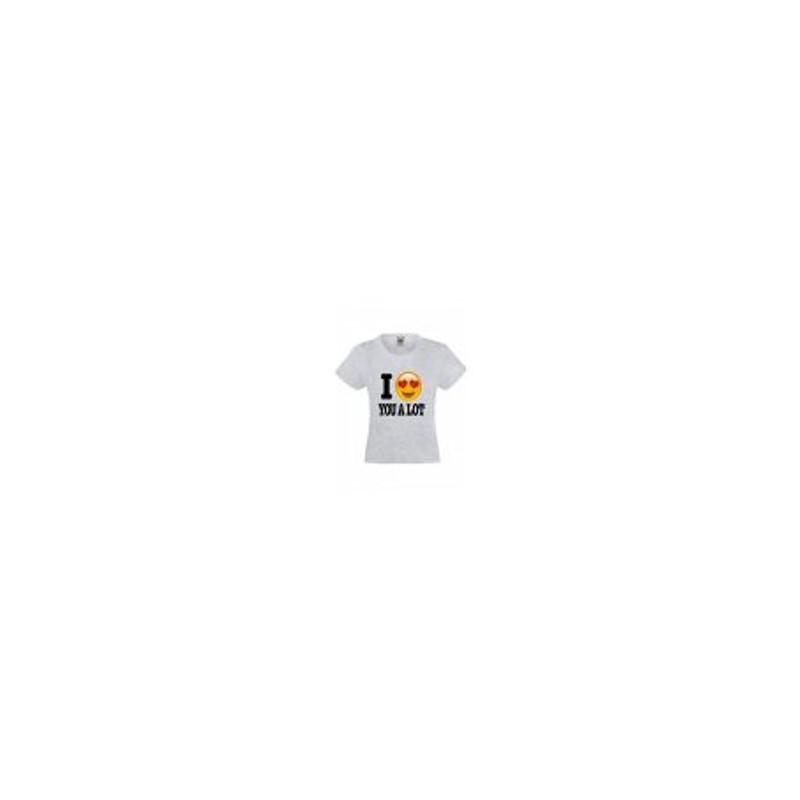 de0b226574868 T-shirt pour fille manches courtes gris - LOVE YOU A LOT du 3 au. Loading  zoom
