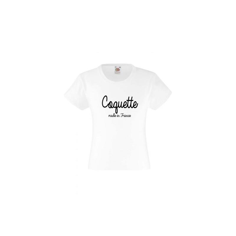 5c77286ca8960 T-shirt pour fille manches courtes Coquette du 3 au 11 ans vêtement enfant  idée. Loading zoom