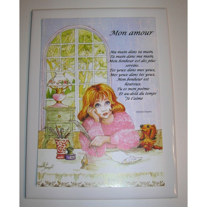 Déco Sur Faïence Poème Citation Mon Amour 02 Idée Cadeau Anniversaire Fête Déco Neuve Emballé Amzalancom