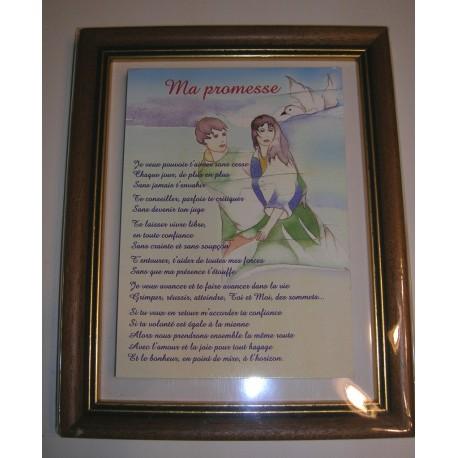 Déco sur faïence poème citation ma promesse idée cadeau anniversaire fête déco neuve emballé