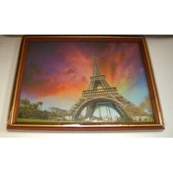 Cadre sous verre décoration Paris Tour Eiffel idée cadeau original anniversaire emballé neuf