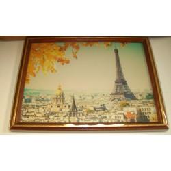 Cadre sous verre décoration Paris Tour Eiffel 02 idée cadeau original anniversaire emballé neuf