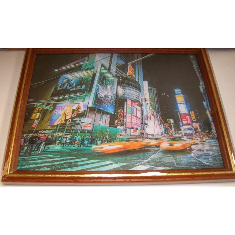 cadre sous verre d coration new york city id e cadeau. Black Bedroom Furniture Sets. Home Design Ideas