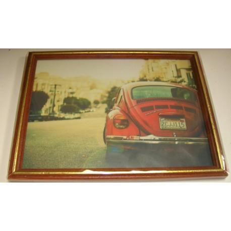 cadre sous verre d coration voiture style vintage id e. Black Bedroom Furniture Sets. Home Design Ideas