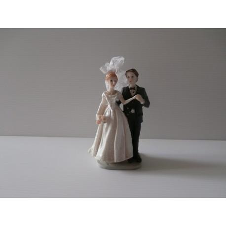 Figurine de jeunes mariés - Neuf - Version 2 décoration mariage salle gateau