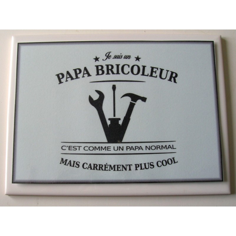 Papa Bricoleur Sur Faience Idee Cadeau Anniversaire Fete Des Peres Noel Neuf Emballe Amzalan Com