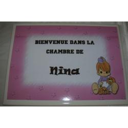 Décoration Chambre de Nina sur faience idée cadeau naissance anniversaire noël neuve emballée