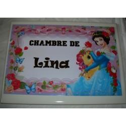 Décoration Chambre de Lina princesse sur faience idée cadeau naissance anniversaire noël neuve emballée