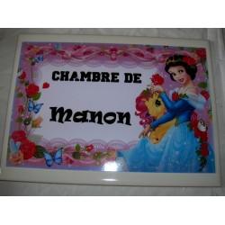 Décoration Chambre de Manon princesse sur faience idée cadeau naissance anniversaire noël neuve emballée