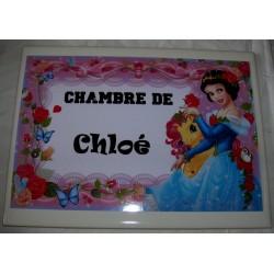 Décoration Chambre de Chloé princesse sur faience idée cadeau naissance anniversaire noël neuve emballée